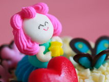 Pink candy doll cake Royalty Free Stock Photo