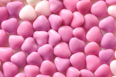 Pink Candy Hearts. Macro of various shades of pink candy hearts Stock Image