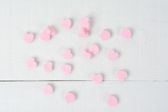 Pink Candy Hearts on White Royalty Free Stock Image