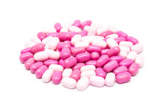 Pink Candy Mints Isolated Stock Photography