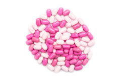 Pink Candy Mints Isolated Stock Image