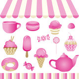 Pink Candy Shop. Scalable vectorial image representing a pink candy shop, isolated on white. EPS10 vector illustration