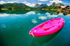 Pink canoe Stock Photos