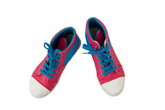 Pink canvas shoes Royalty Free Stock Photo