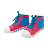 Pink canvas shoes Stock Images