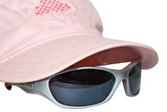 Pink Cap with Sunglasses royalty free stock photo