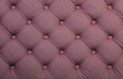Pink capitone tufted fabric upholstery texture Stock Image