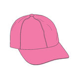 Pink caps. Pink baseball caps vector illustration Stock Photos