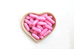 Pink capsule Royalty Free Stock Photos