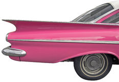 Pink car. The antiquarian car isolated over white with clipping path Royalty Free Stock Photo