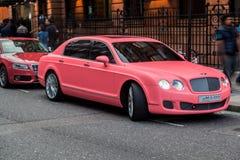 Pink Car London England Royalty Free Stock Photos