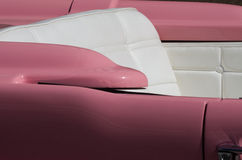 Pink car. Particular of a seat of pink cabrio car Royalty Free Stock Photography