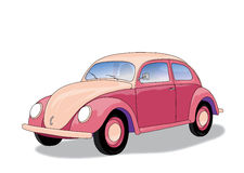 Pink car (vector) Royalty Free Stock Photo