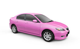 Pink Car w/ Clipping Path Stock Image