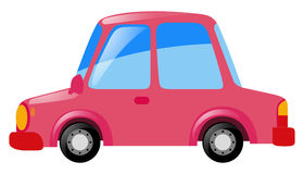 Pink car on white background. Illustration Stock Images