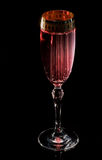 Pink carbonated cocktail, long exposure Royalty Free Stock Photo