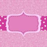 Pink card Stock Image