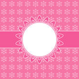 Pink card with Christmas snowflakes Royalty Free Stock Photography