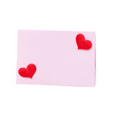 Pink card for congratulation with hearts Valentine's Day Stock Photo