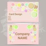 Pink card design Stock Photos