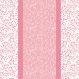 Pink card with floral pattern. Stock Images