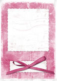 Pink card for greeting in style retro Stock Photos