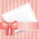 Pink card for sweet occasions Royalty Free Stock Photo