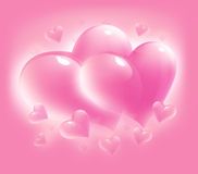 Pink card for valentine's day Royalty Free Stock Photos