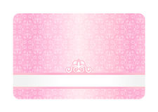 Pink Card with Vintage Pattern Royalty Free Stock Photos