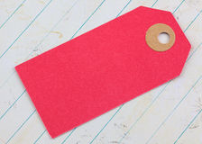 Pink cardboard tag Royalty Free Stock Images