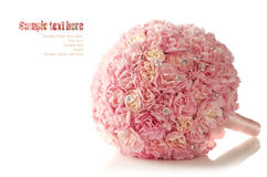 Pink carnation wedding bouquet Stock Images
