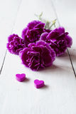 Pink carnations flower bouquet Stock Images