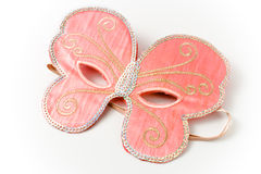 Pink carnival mask in  shape of a butterfly Royalty Free Stock Photo