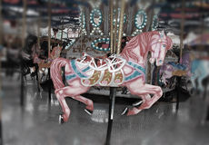 Pink carousel horse Royalty Free Stock Photo