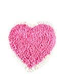 Pink carpet on white background Stock Photo