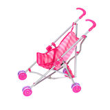 Pink carriage, beautiful toy for children. Isolated on a white background Royalty Free Stock Image