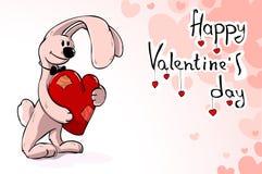Pink cartoon bunny Royalty Free Stock Photos
