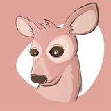 Pink cartoon deer Royalty Free Stock Photos