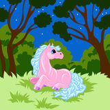 Pink cartoon horse Stock Photography