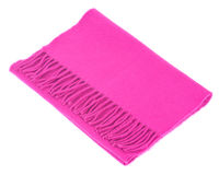 Pink cashmere scarf Royalty Free Stock Photography