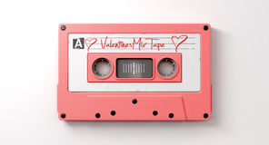Pink Cassette Mix Tape Stock Image