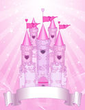 Pink Castle place card Royalty Free Stock Image