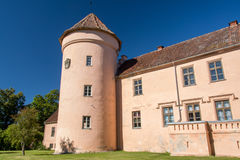 Pink castle tower Royalty Free Stock Photography