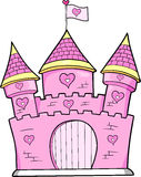 Pink Castle Vector Royalty Free Stock Images