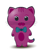 Purple cat Royalty Free Stock Photography