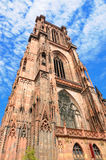 Pink cathedral in Strasbourg. Medieval gothic cathedral in Strasbourg, France Royalty Free Stock Photo