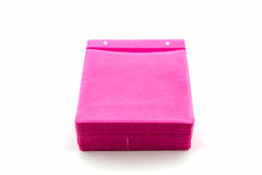 Pink CD paper case. Royalty Free Stock Image