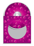 Pink cd sleeve Stock Image