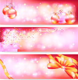 Pink celebration and sales ornament banner background, create by. Three styles of pink celebration and sales ornament banner background, create by vector Royalty Free Stock Photos