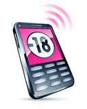 Pink cell phone royalty free illustration